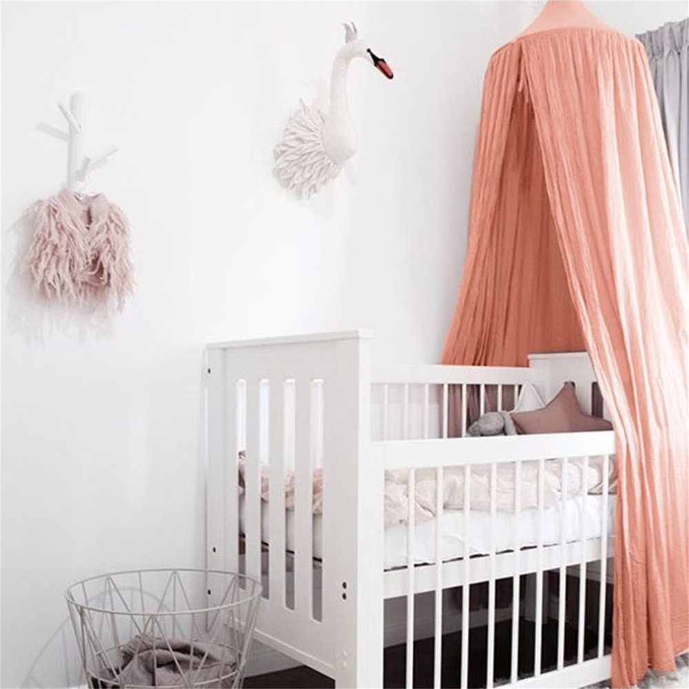 Baby Crib Net bed curtain Canopy Children Room decor Kids Tent Cotton Hung Dome Mosquito Net For Baby Sleeping photography props