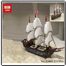 В наличии Новые Лепин 22001 пиратский корабль имперской военные корабли Конструкторы и модели блок брики Игрушечные лошадки подарок 1717 шт. Совместимость 10210