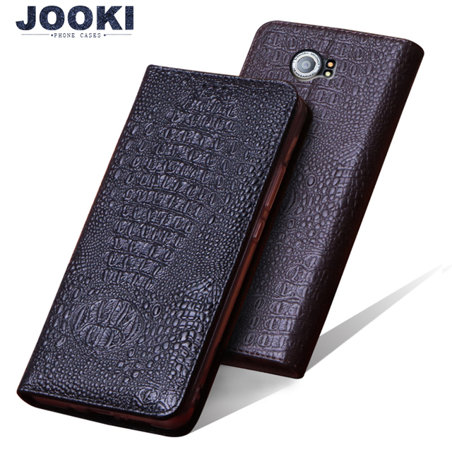 new product 466ae 1fb11 US $36.98 |JOOKI Genuine Leather case For Blackberry Priv Flip Stand Cover  For blackberry Priv slider crocodile mobile phone 5.4 inch Cases-in Wallet  ...