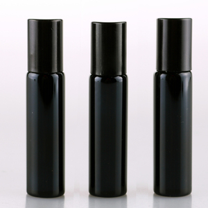 Image 4 - 100 Pieces/Lot 10ML Refillable Black UV Glass Perfume Bottle With Roll On Empty Essential Oil  Vial For Traveler