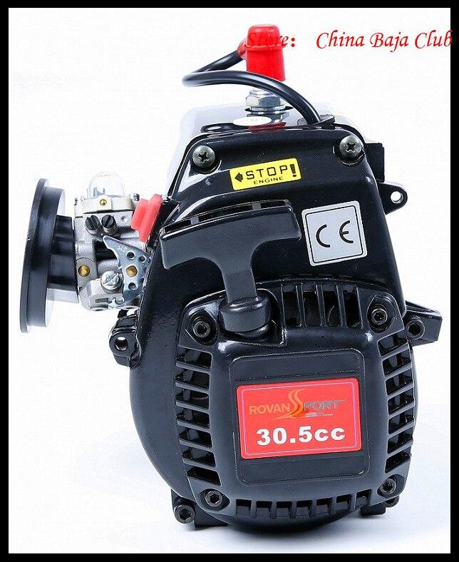 30.5cc Motore 4 Bolt Motore con 668 Carburatore candela 8000 RPM Frizione Fits HPI Baja 5B, LOSI 5 iveT, Redcat, FG - 3