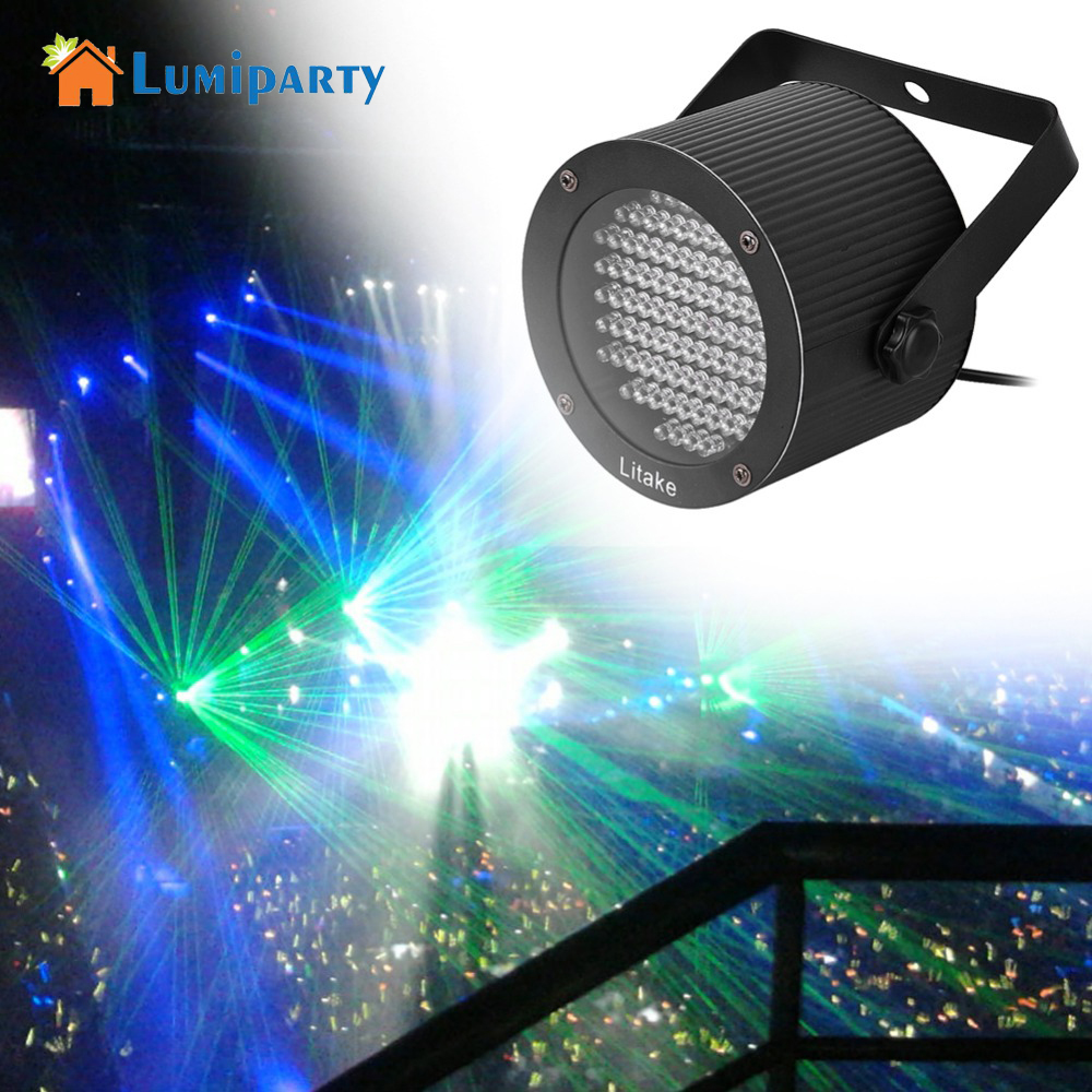 Lumiparty Professional LED Stage Lights 86LED RGBW DMX512 Disco Lamp laser projector dmx Controller for DJ Party KTV