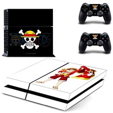 One Piece Vinyl Decal Skin Stickers For PS4 Playstation 4 Playstation Sticker Console + 2PCS Controllers