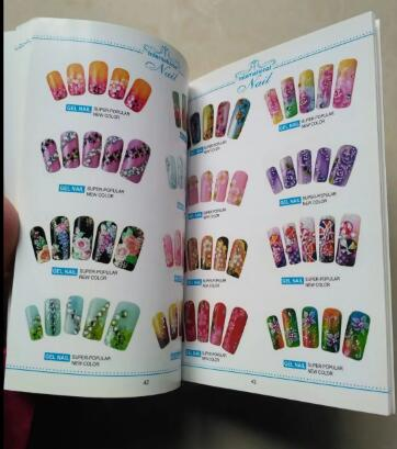 Around 500 Kinds Of Styles Nail Art Tool Gel Nail Book Professional