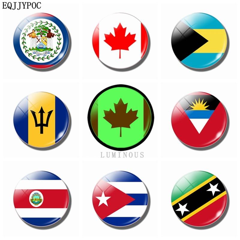 US $0 63 55% OFF|Luminous National Flag 30 MM Refrigerator Magnets Fridge  Magnets Glass Belize Canada Bahamas Barbados Costa Rica Cuba Souvenir-in