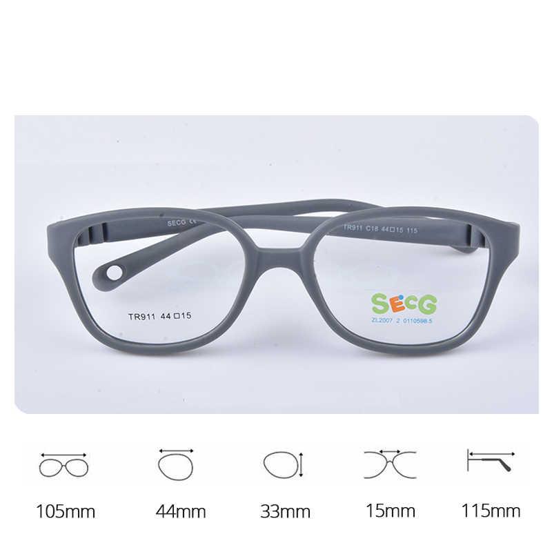 SECG Top Brand Children Prescription Myopia Optical Glasses Frames Resin Glasses For Kids Protective Kids Eyewear TR911