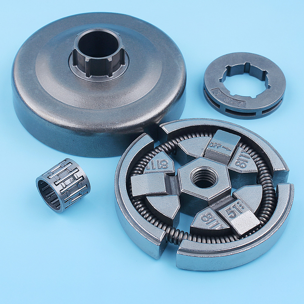 Tools : 3 8inch Clutch Drum Bell Rim Sprocket Bearing Kit For Husqvarna 262 261 262XP Chainsaw 503577101 503657801 Replacement Parts