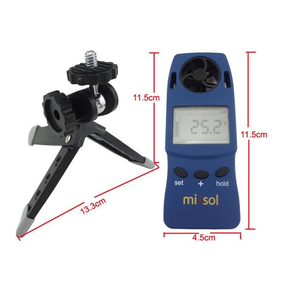 WS-4000 Mini haute précision anémomètre numérique compteur de vent électronique vent froid thermomètre poche de poche - 5