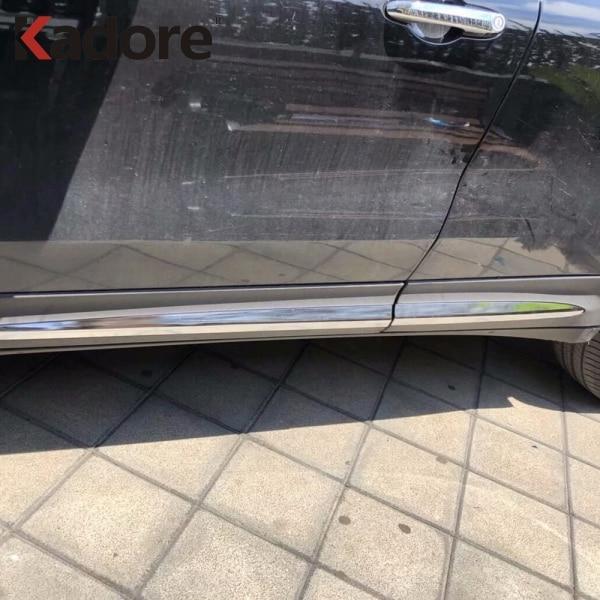 Fit For Fiat 500X 2014 2015 2016-2018 ABS Chrome Car Side Door Body Line Moldings Cover Decoration Trim Accessories Protector sixpad abs fit 1+body fit 1 машина укреплять здоровье руки пояс шейпинг