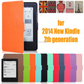 for amazon 2014 new kindle touch screen 7 7th generation 6'' ereader slim protective cover smart case+protector film+stylus