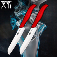 XYj 2 PCS 4 inch Santoku Ceramic Knife Japanese Chef Knife Bread Cutter Cooking Knives Sharp Comfortable Handle Cooking Tools(China)