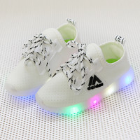 Spring Autumn New Children's Shoes Children's LED Lights Shoes Boys Flash Shoes Girls Breathable Sneakers