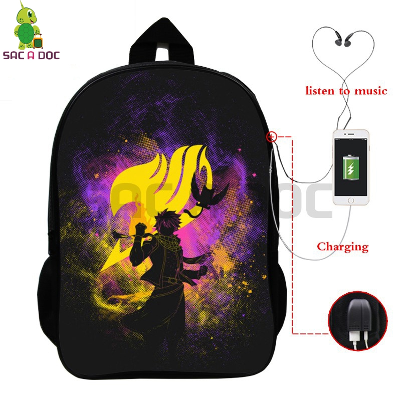 00d7a2754d30 Detail Feedback Questions about Fairy Tail Multifunction Backpack Natsu  Happy Shadow School Bags for Teenage Girls Boys USB Charging Laptop Backpack  Travel ...
