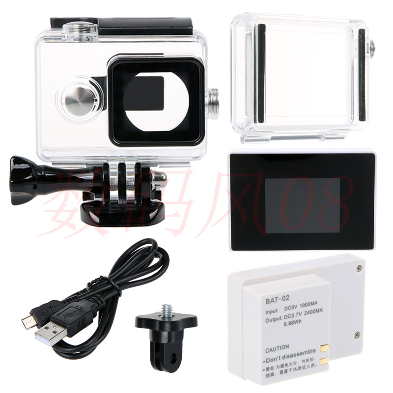 Waterproof Housing Case+Expand Case Cover+LCD Screen Display+External BacPac Battery For Xiaomi yi Action camera accessories 3d cnc router 3040 wood carving machine with 1500w water cooled spindle motor no tax to russia