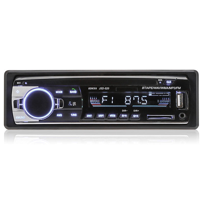 JSD - 520 Car MP3 Player FM Radio Stereo Receiver Bluetooth 2.0 connection, includes wireless music and call XQ-04 image