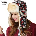 New Winter women bomber hats Plus Velvet Thick Warm Fashion linen Hats Letter Printed Outdoor sport Ski Bomber Hats