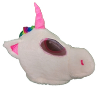 Plush Horse Pony Head Mask Halloween Unicorn Mascot Costume Christmas