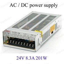 Best price  24V 8.3A 201W Switch Power Supply Driver for LED Strip Light AC 115-230V  INPUT