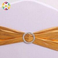 ZJFC 50 шт./лот чехол для свадебного стула широкие пояса-кушаки ленты из спандекса на стулья Чехол для стула с бантами для торжеств для вечеринк...