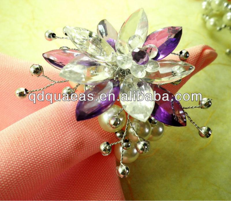 Purple Napkin Rings Acrylic Wholesale, Wedding Decoration