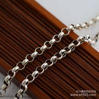 Silver 925 silver necklace thick 3.5 mm female 56 cm long necklace