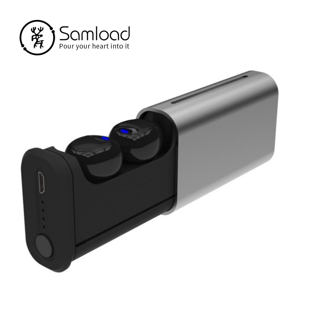 Samload Bluetooth 5.0 Auricolari di Sport Wireless Mini Auricolari Profonda Bass Auricolare Cuffie Per Apple iphone 5s 6 7 8 Samsung Sony