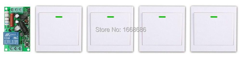 Nuevo Sistema de Interruptor de Control Remoto Inalámbrico AC220V 1CH Receptor +