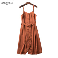 2017 Casual Fashion Women Strap Knee Length Dress Korean Women S Bib Overalls Dresses Autumn Solid