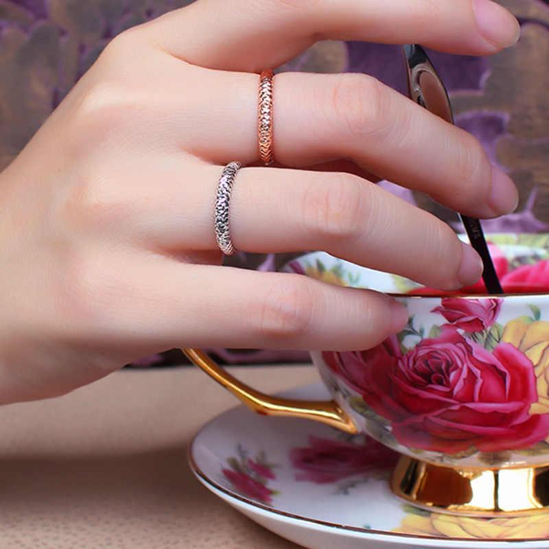 18 k Puro Anel de Ouro Rosa Branca Unisex Das Mulheres Dos Homens Amante Do Acoplamento Do Casamento Jóias Finas Perder Menina Presente 2017 Hot venda Personalizável
