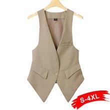 Womens coats and jackets winter sale Plus size Fashion women suit Waistcoat denim sleeveless Causul Slim lady Vest