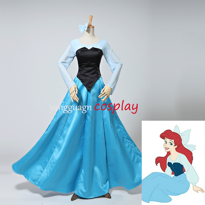The Little Mermaid Ariel Princess Dress Costume Shirt Corset Skirt Ariel Halloween Carnival Birthday Party Cosplay Costume