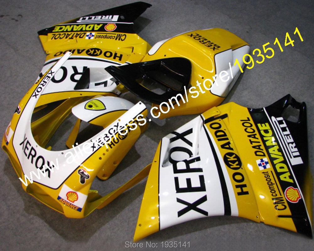 Hot Sales,Yellow white black body kit For Ducati 996 748 DUCATI 748 996 1996 2002 sport motorcycle Fairing (Injection molding)