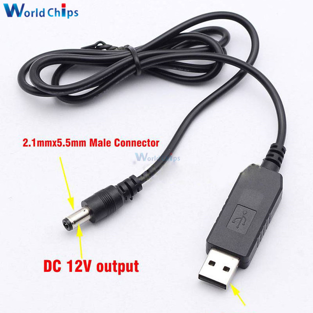 USB DC 5V to DC 12V Step up Module Converter 2.1×5.5mm Male Connector Adapter