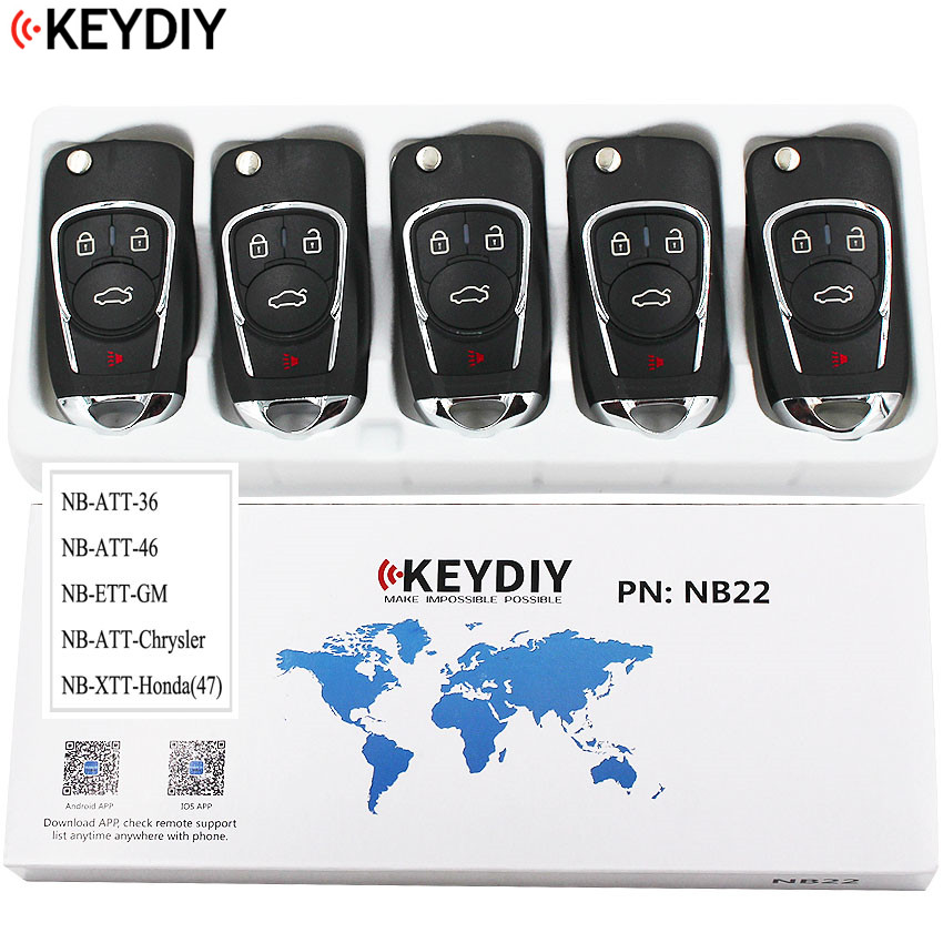 5PCS Multi functional Universal Remote Key for KD900 KD900 URG200 NB Series KEYDIY NB22 all functions