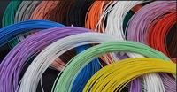 High Quality 16AWG Teflon silver wire 1.5m2 Silver plated copper wire for DIY Power cable line 50M/lot 7 color