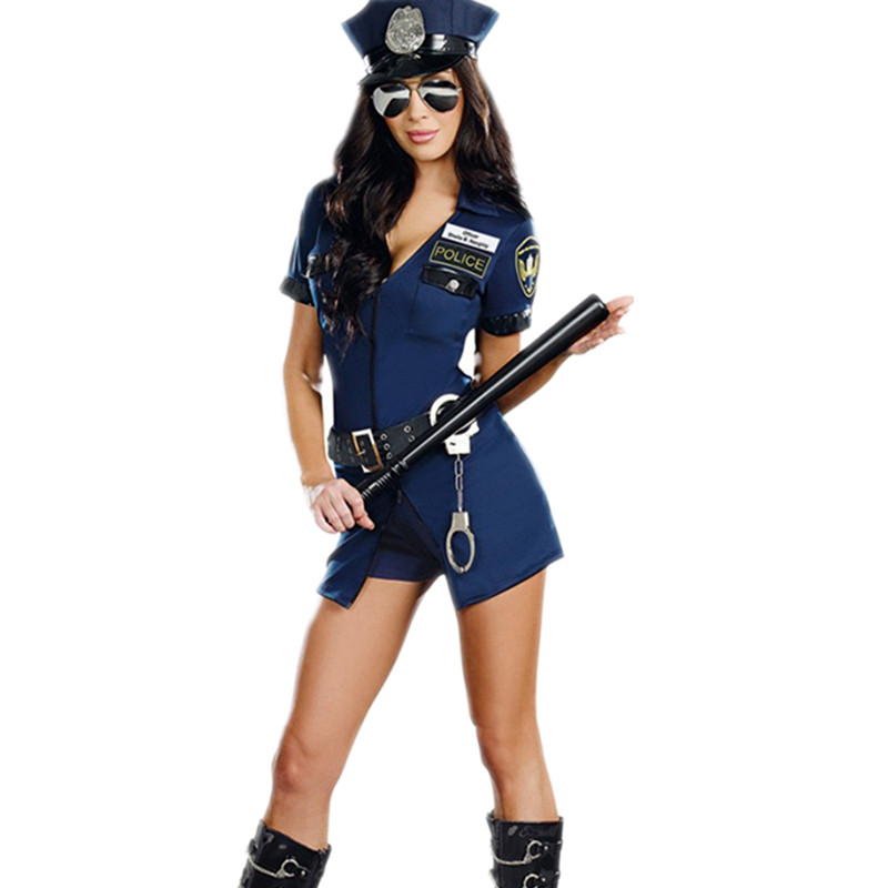 Sexy Police Femmes Costume Cop Tenues Adulte Femme Policiers Cosplay Policière Barboteuse Fantaisie Robe Halloween Costume Pour Femmes