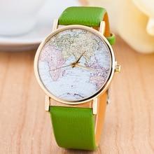 цена на 2019 New Fashion Women's Watch Luxury Brand globe Leather Strap Wrist Watch Women Ladies Quartz Watch relogio feminino kol saati