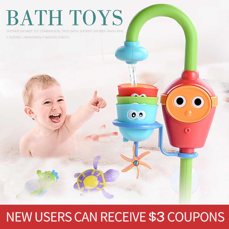Girls Boys Bath Toy Spray Water Shower Pool Tub Waterwheel Faucet Bathroom Toys