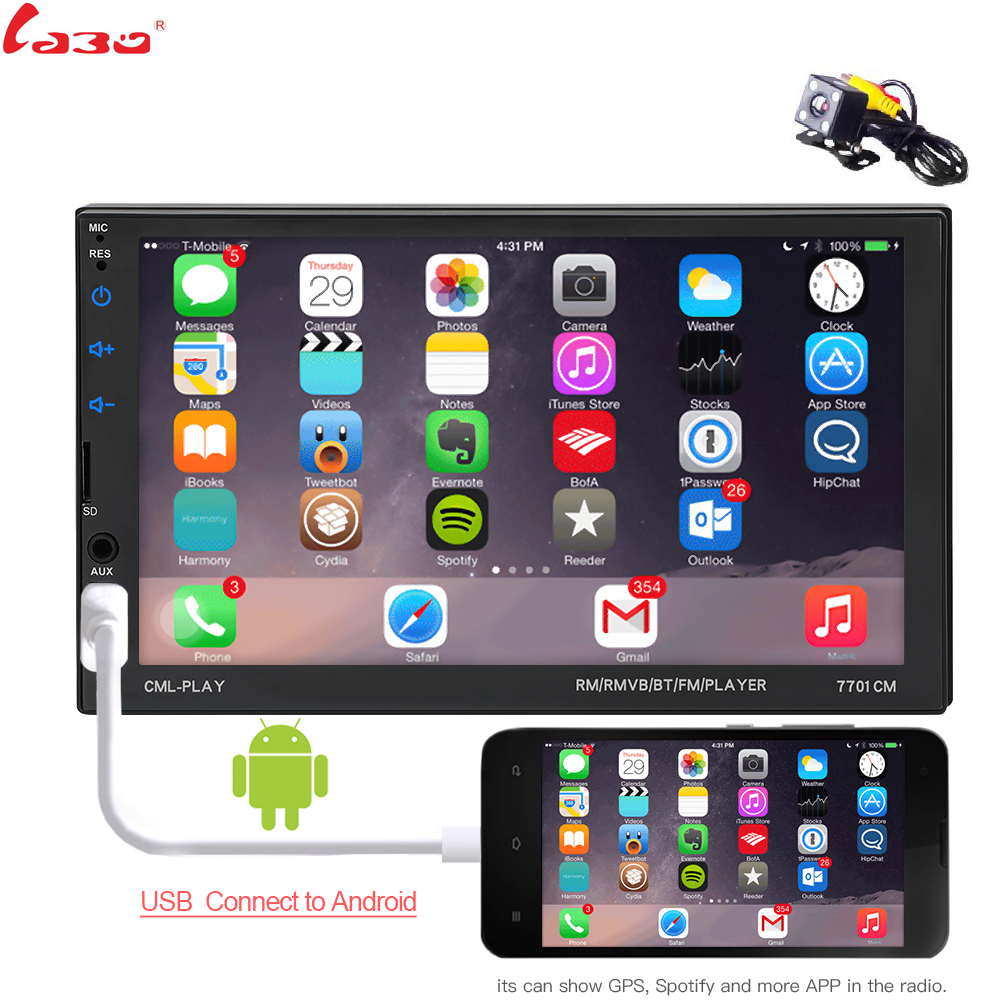 Mirror link Android 8.0 2 din car radio Autoradio 7'' Multimedia Player Bluetooth handsfree FM/SD/USB Rearview Camera Car Radio