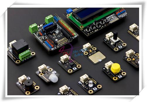 Módulos Início Kit de sensor para Intel Edison/Galileo, inclui Placa de Expansão IO expansão do sensor V7 LCD + Chave + Outros Sensores etc