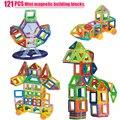 Мини 121 ШТ. Магнитного Строительные Блоки Игрушка 3D DIY Магнитный Конструктор Игрушки Кирпич Блоки Развивающие Игрушки Для Детей kids ребенка
