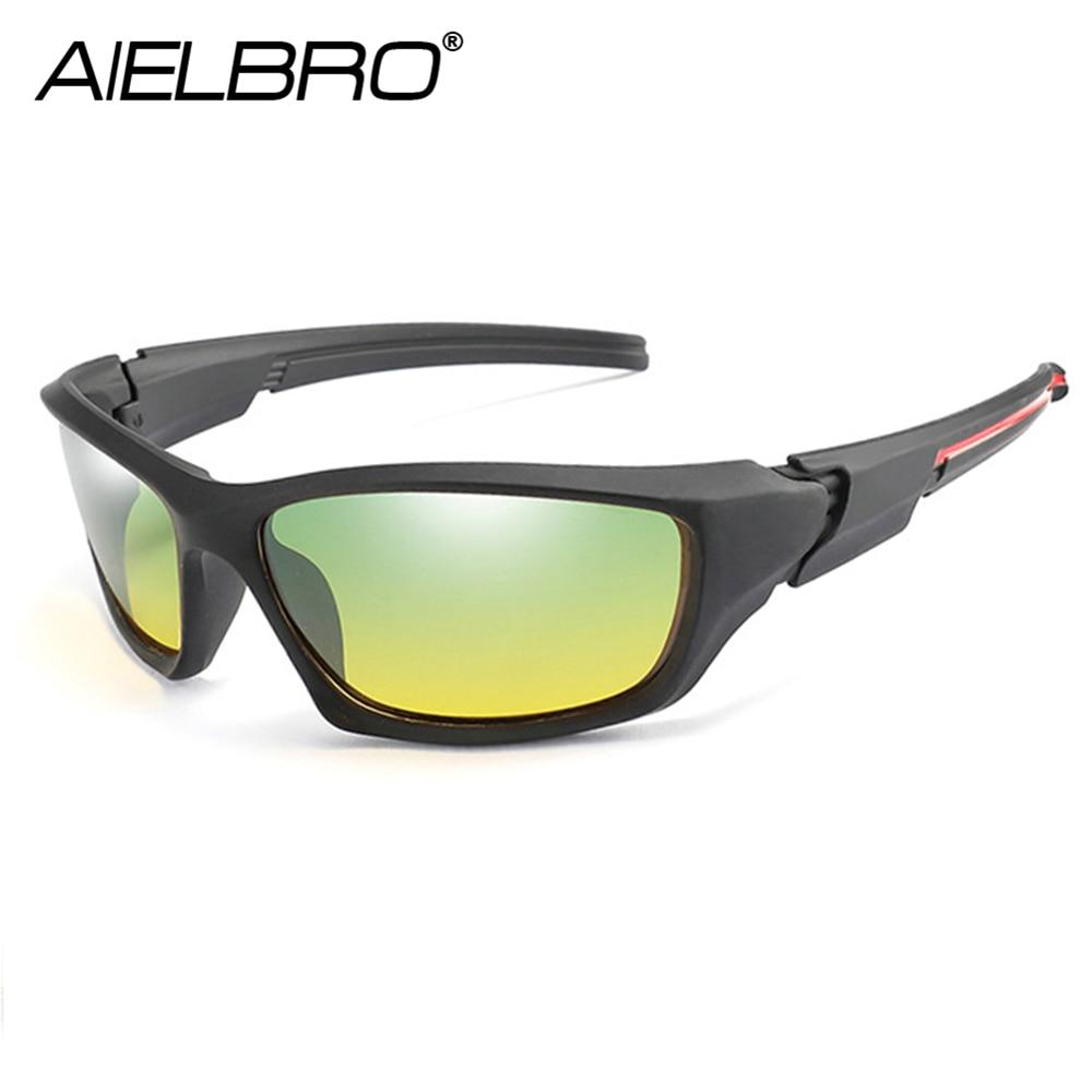 Купить с кэшбэком AIELBRO Resin Frame Polarized Lenses Day Night Vision Driving Glasses Best Night Vision Goggles Men Women