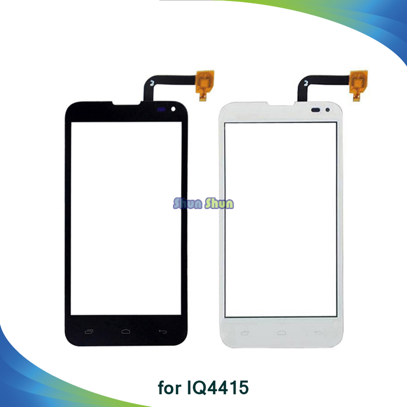 10pcs Touch Screen for Fly IQ4415 Quad Era Style Touch Screen Digitizer Sensor Front Glass Lens Panel Black White Phone Parts