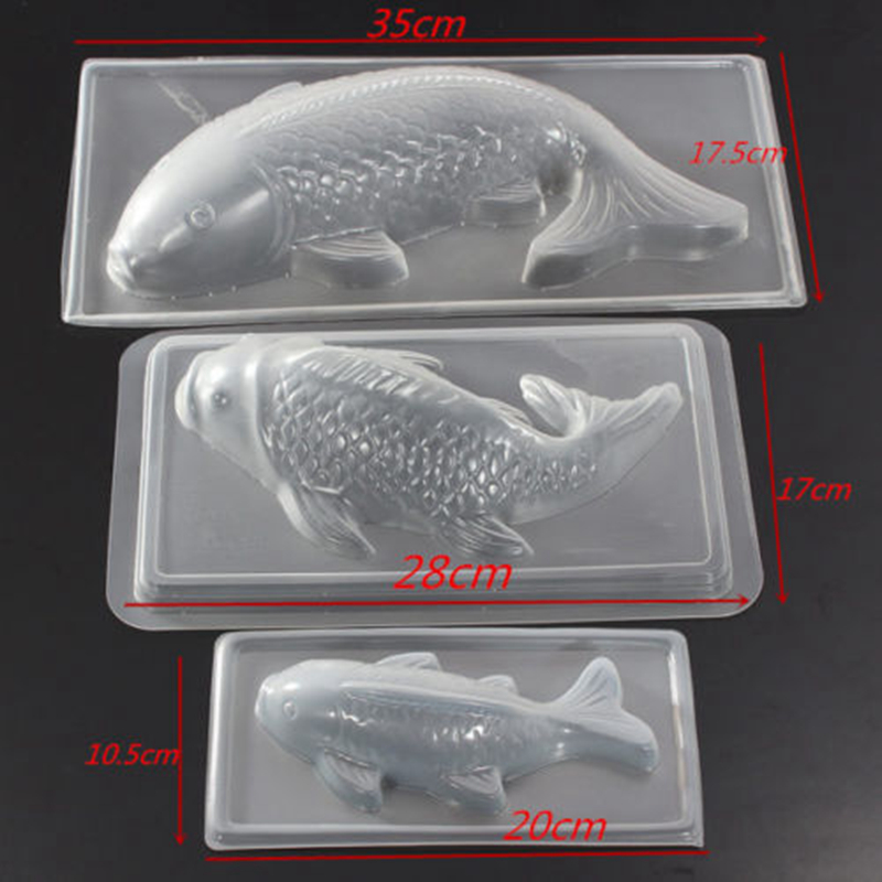 Carp Cyprinoid Balıq 3D Tort Şokolad Kalıplı Jelly Şəkər - Mətbəx, yemək otağı və barı - Fotoqrafiya 2