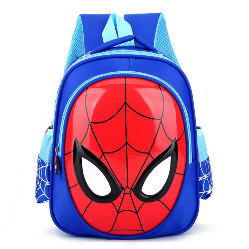 1f34660c82 New Arrivals 2018 Boys School Bags Cartoon 3D Spiderman Children School  Backpacks Kindergarten Primary Boy mochila Kids Satchel
