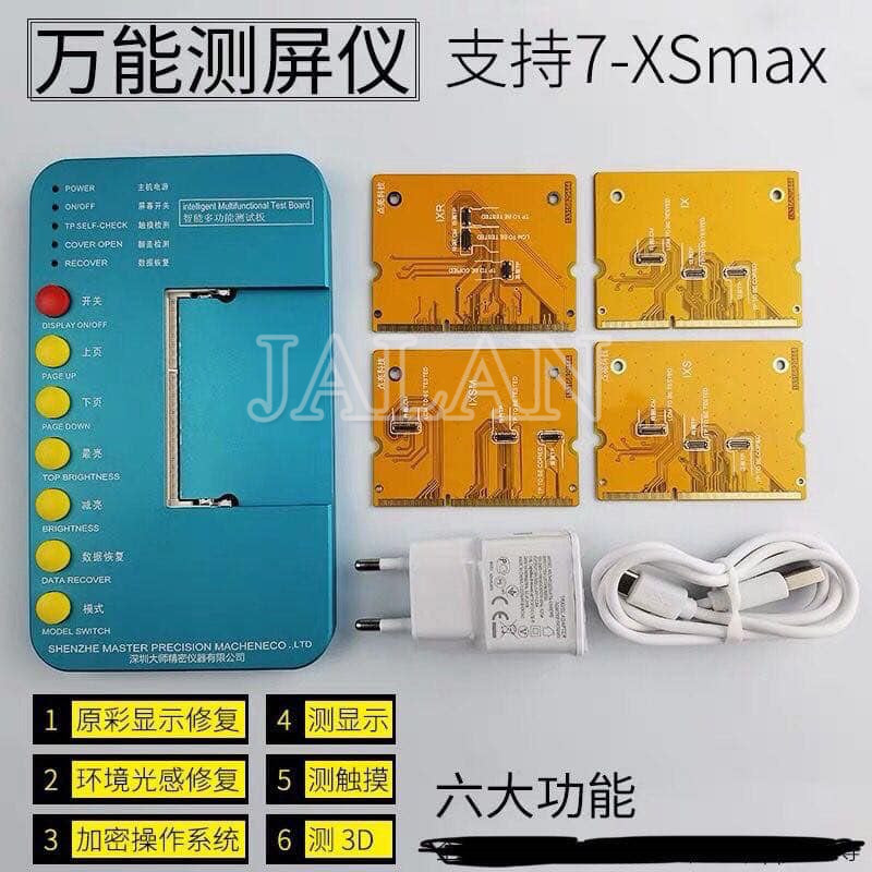 Testeur multifonction 3D/tactile/affichage pour iPhone x xs xr xsmax LCD tactile, capteur de lumière et tonalité réelle caractéristiques réparation