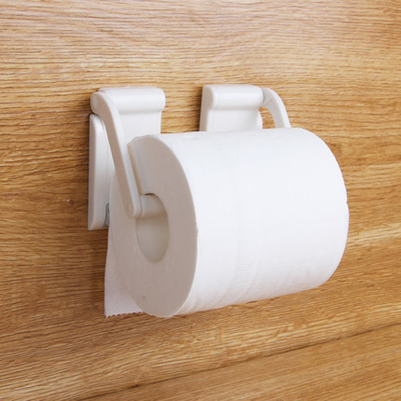Adjustable White Paper Roll Rack Stand Toilet Paper Stand Magnet Towel Rack For Home Kitchen Refrigerator Bathroom Accessories