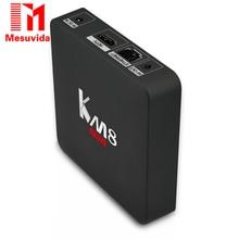 Mesuvid KM8 Pro Smart TV Box Android 6.0 TV Box Amlogic S912 Octa Core CPU Soutien BT 4.0 Dual Band WiFi 2017 17.0 Décodeur boîte