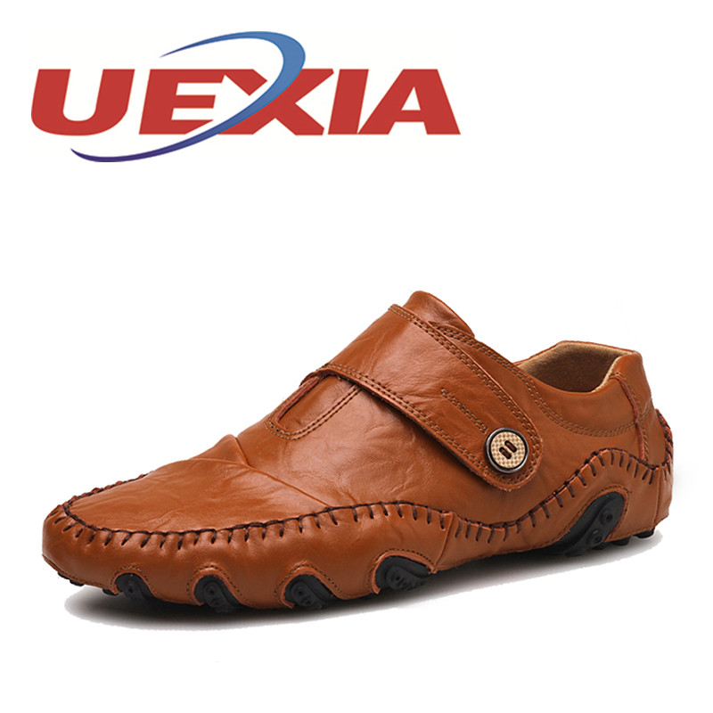 Plus Size 38-47 Summer Men Soft Leather Driving Shoes Breathable Hook Comfortable Flats Shoes Zapatos Casual Men Loafers Black branded men s penny loafes casual men s full grain leather emboss crocodile boat shoes slip on breathable moccasin driving shoes