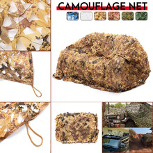 3x4m/4x5m Hunting Military Digital Desert Camouflage Nets Woodland Army Camo netting Camping Sun ShelterTent Shade sun shelter(China)